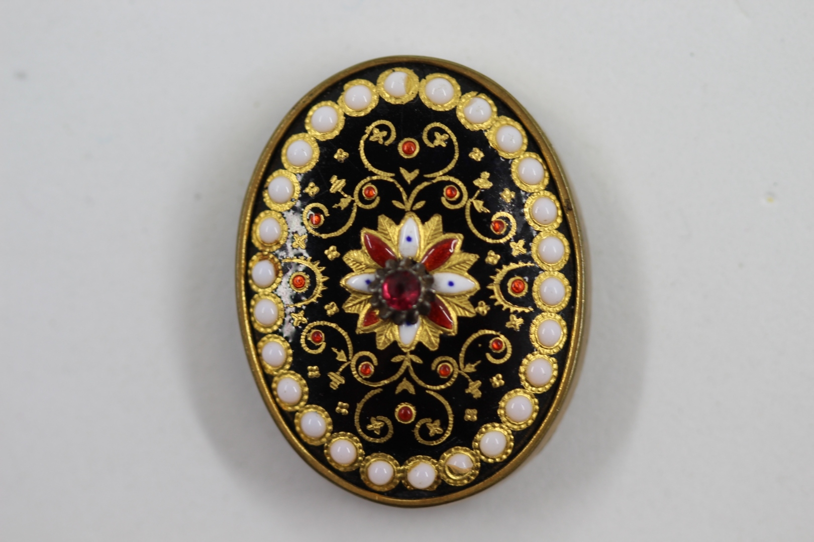 Limoges Enamel Mid 20th Century Button - The Button Queen